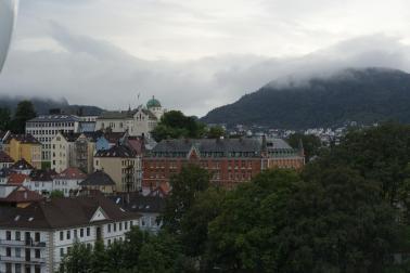Abschied von Bergen mit AIDA
