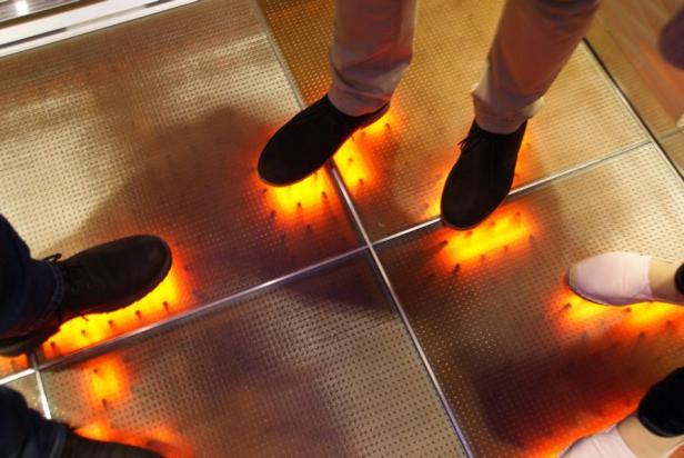 Disco Aufzug AIDAprima leuchten touch party