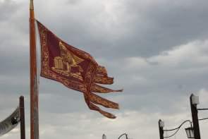 Flagge von Venedig mit dem Löwen von San Marco