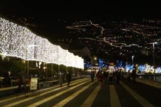 Straßen an Weihnachten Funchal Madeira