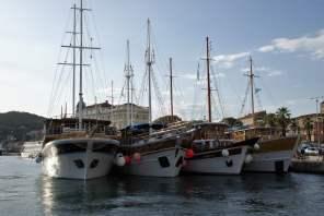 Split Hafen Schiffe Boote Kroatien Meer
