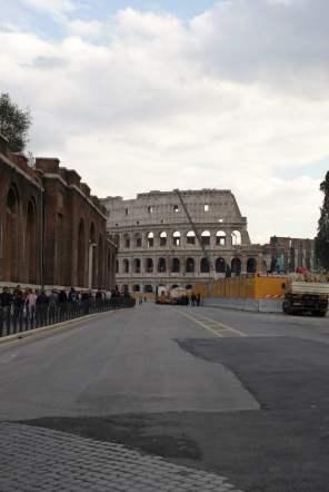 Koloseum am Ende der Via dei Fori Imperiali