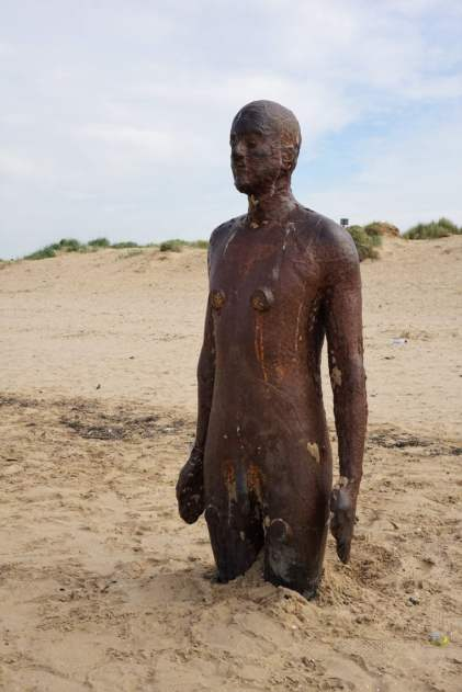 Another Place - Figuren von Antony Gormley Strand Bronze