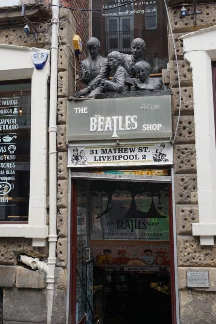 The Beatles Shop in der Mathew Street Liverpool