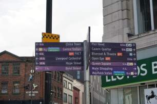 Wegweiser Liverpool