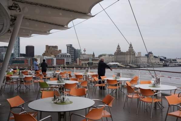 Skyline von Liverpool von AIDA aus