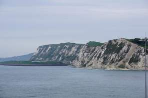 Kreidefelsen von Dover Fahrt Ärmelkanal Meer Aida Kreuzfahrt