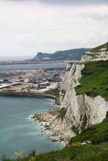 Fährhafen von Dover Kreidefelsen