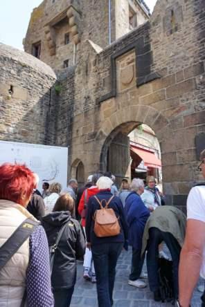 Porte Bavole- Eingang des Ortes Mont-Saint-Michel