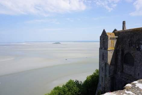 Blick aufs Wattenmeer Mont-Saint-Michel Panorama Aussicht