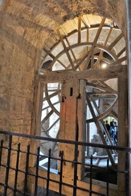 Tretrad des Schrägaufzuges Mont-Saint-Michel Abtei