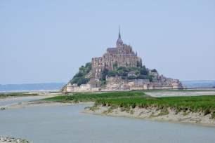 Mont-Saint-Michel aus der Ferne