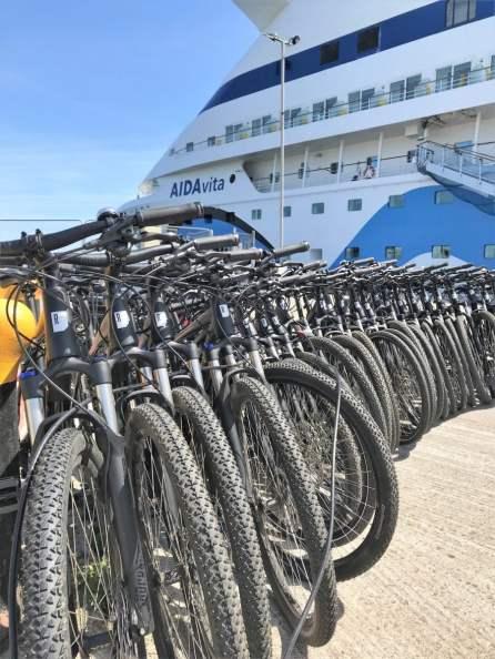 Sightseeing per Bike Hafen von Portland Ausflug