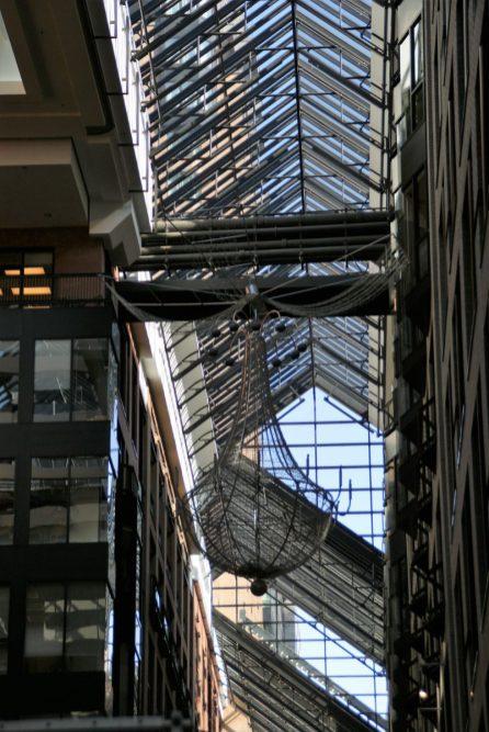Verglaste Atrium