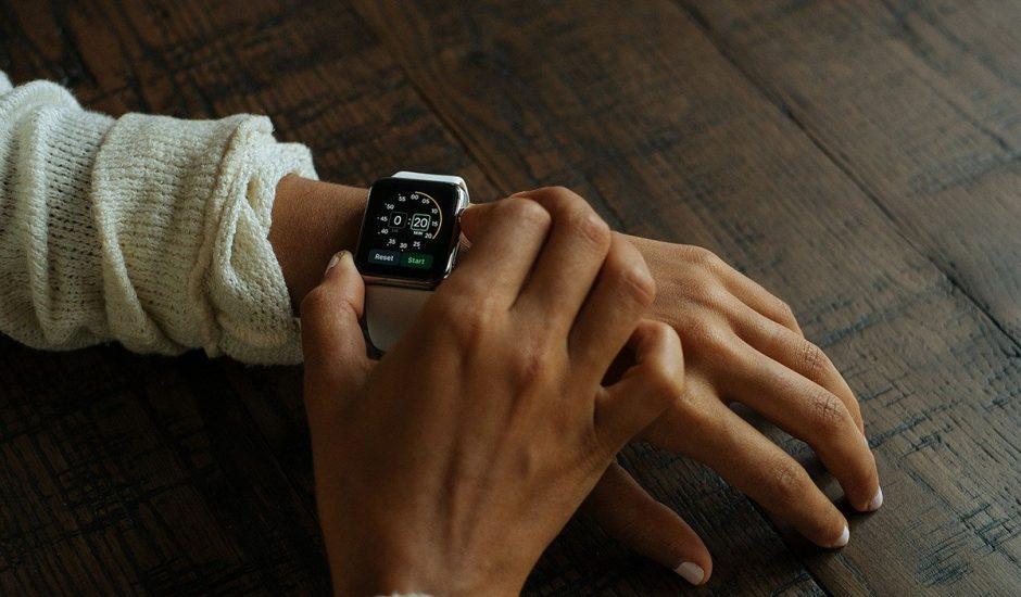 Aperçu d'une montre connectée.
