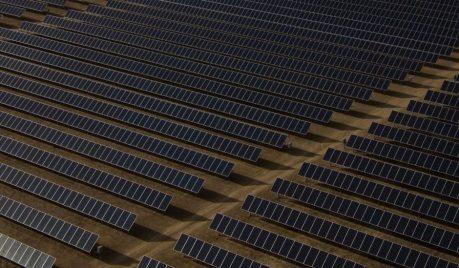 Aperçu d'une ferme solaire.