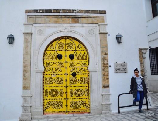 porte jaune restaurant tunis - Dar El Jeld - Tunisie, de la mer au désert - Afrique, Tunisie