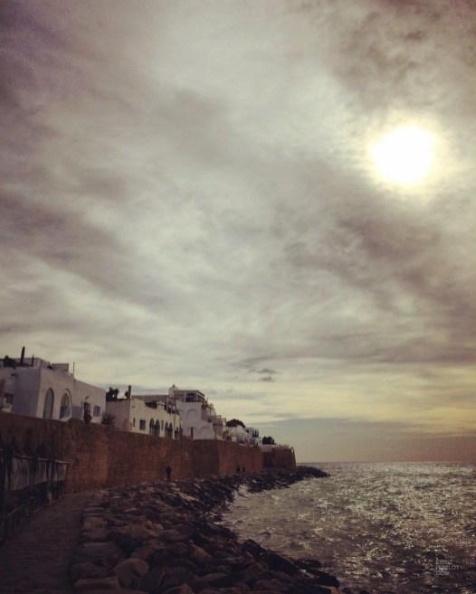 mer roches nuages - Hammamet - Tunisie, de la mer au désert - Afrique, Tunisie
