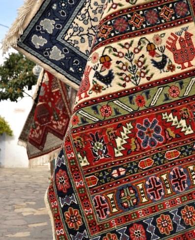 tapis - Sidi Bou Saïd - Tunisie, de la mer au désert - Afrique, Tunisie