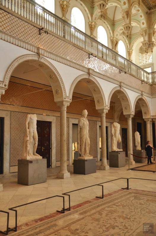 tunis colonnes statues - Musée national du Bardo - Tunisie, de la mer au désert - Afrique, Tunisie