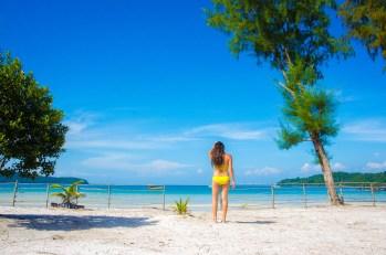 vue du bungalow - Un paradis secret, Koh Rong Samloem, Cambodge - Asie, Cambodge