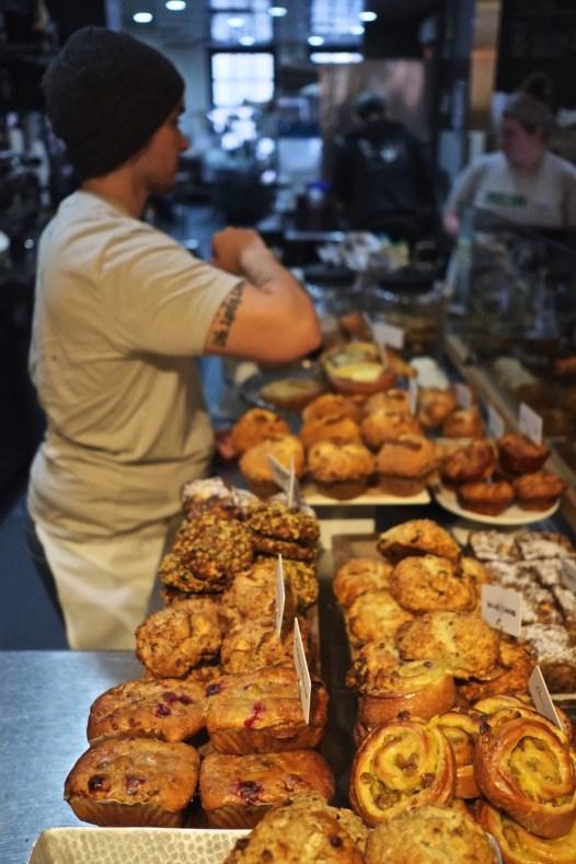 Boulangerie pains - Flour Bakery - L'émergent Seaport District à Boston - Amérique, États-Unis, Massachusetts
