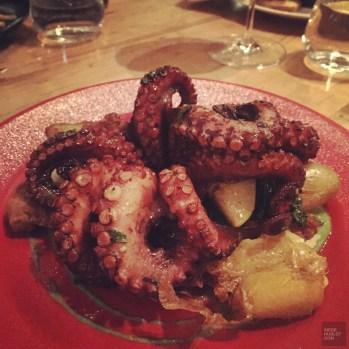 pieuvre restaurant - Cluny Bistro - Séjour à Toronto - Amérique, Canada, Ontario