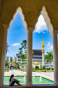 Mosquee Omar Ali Saifuddien relaxation - Sultanat de Brunei Darussalam - Asie, Brunei