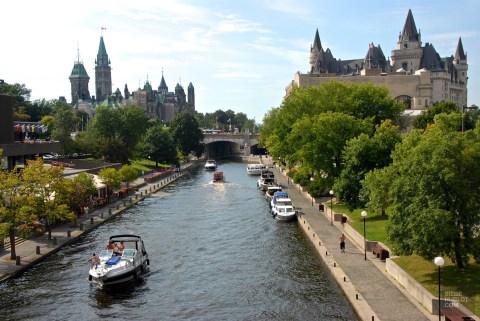 Ottawa Canal Rideau - Ontario - Le Canada dans ma langue - Amérique du Nord, Canada