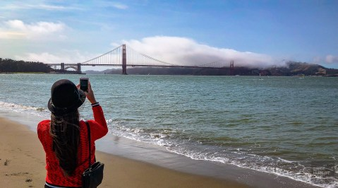 Golden gate bridge beach - Coup de coeur a Napa Valley - Ameriques, Etats-Unis