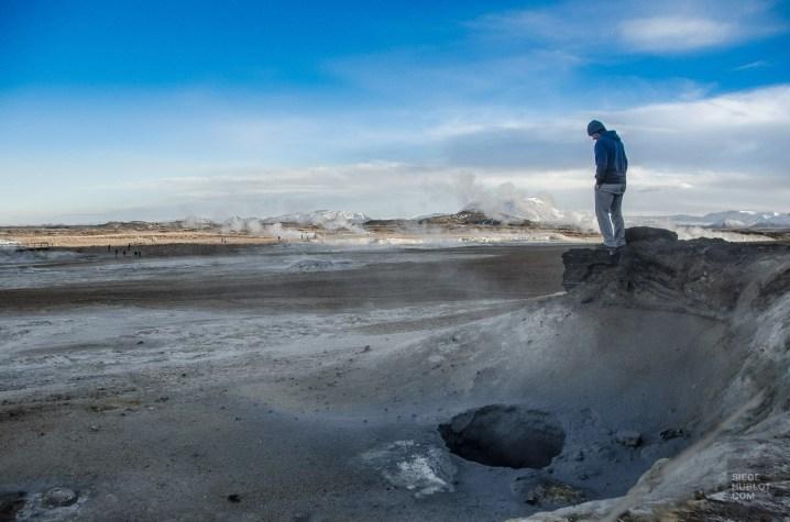 Hverir boue volcanique fumee - Akureyri, lac Myvatn, Hverir, Godafoss - Islande en 8 jours - Islande, Europe
