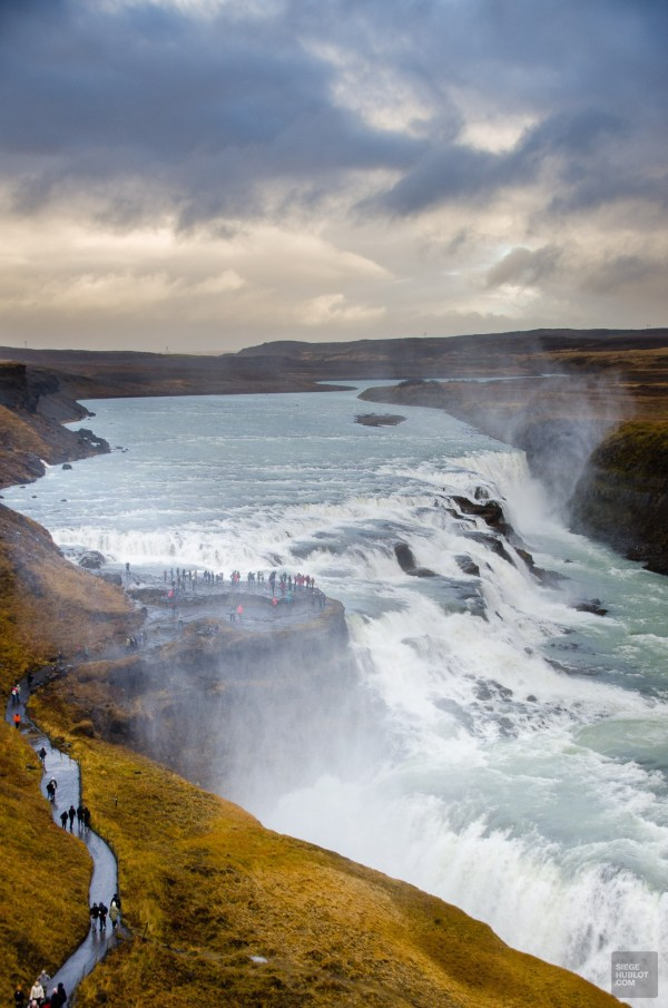 chute gullfoss fameux triangle d or islande europe