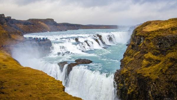 chute gullfoss fameux triange d or islande europe