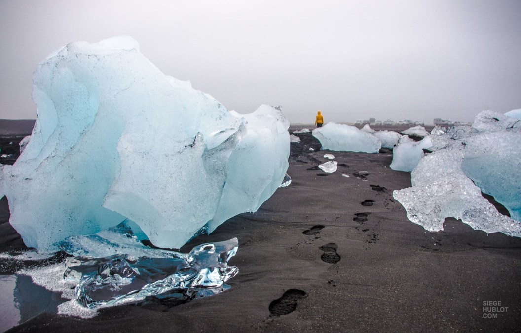 trace de pas glaciers - Jokulsarlon et Skaftafell - Islande en 8 jours - Islande, Europe