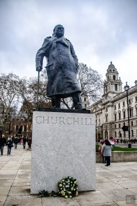 Statue Churchill - Courte escale a Londres - Europe, Angleterre