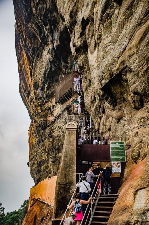 ascension rocher du lion - vieilles cites, temples et monasteres - Sri Lanka, au cœur de l ile - Asie, Sri Lanka