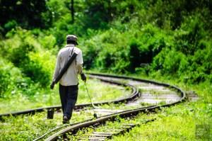 entretien rails - The, train et pont - Sri Lanka, au cœur de l ile - Asie, Sri Lanka