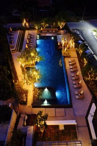 La piscine vue de la terrasse - Jungle et faune - Krabi et son unique resort écologique - Asie, Thaïlande