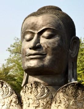 Tête du Bouddha noir - Ayutthaya, Thaïlande - Le parc historique d'Ayutthaya - Destination, Asie, Thaïlande