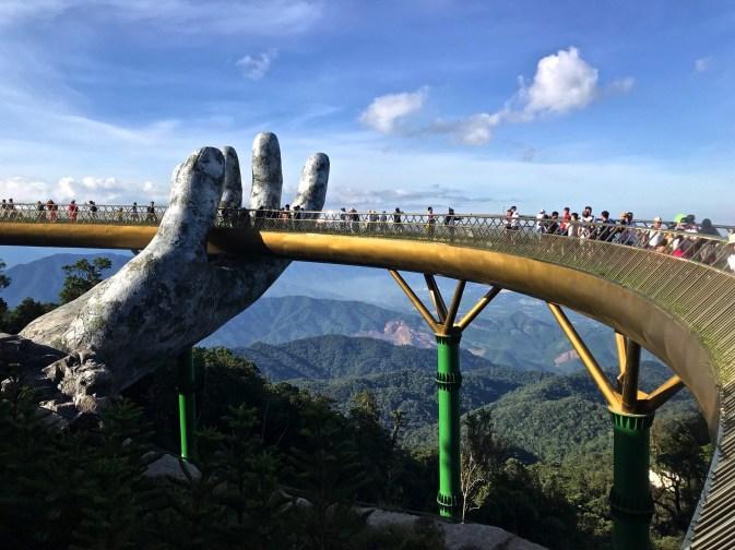 Le Golden Bridge - Le pont - Faire le Pont à Ba Na Hills - Asie, Vietnam