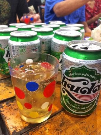 Bière vietnamienne Huda - Hai Coi - 12 Restos Coups de Coeur à DaNang - Destination, Asie, Vietnam, Restos