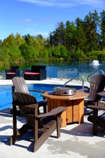 Piscine - Auberge du Lac Taureau - Amérique du Nord, Canada, Québec, Lanaudière, À haire, Hôtels, Roadtrip