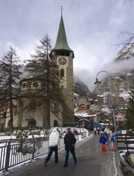 Église à Zermatt - Zermatt, Valais - Zermatt, la quintessence de la Suisse - Europe, Suisse