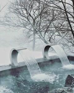 Les chutes - Le Saint-Laurent - Le Strøm spa nordique du Vieux-Québec - Canada