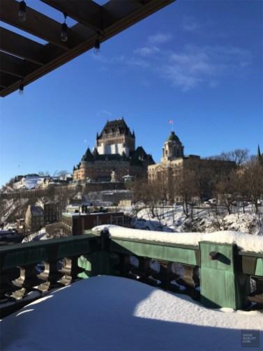 Vue spectaculaire de la terrasse - Les chambres et suites - L'hôtel 71 dans le Vieux-Québec - Québec, Canada