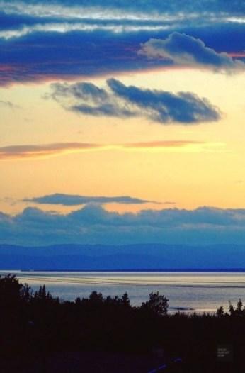 Coucher de soleil - La région - Un épicurien à Rivière-du-Loup - Amérique du Nord, Canada, Québec, Bas St-Laurent