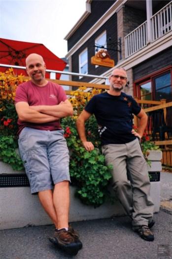Éric et Frédéric - Aux Fous Brassant - Un épicurien à Rivière-du-Loup - Amérique du Nord, Canada, Québec, Bas St-Laurent