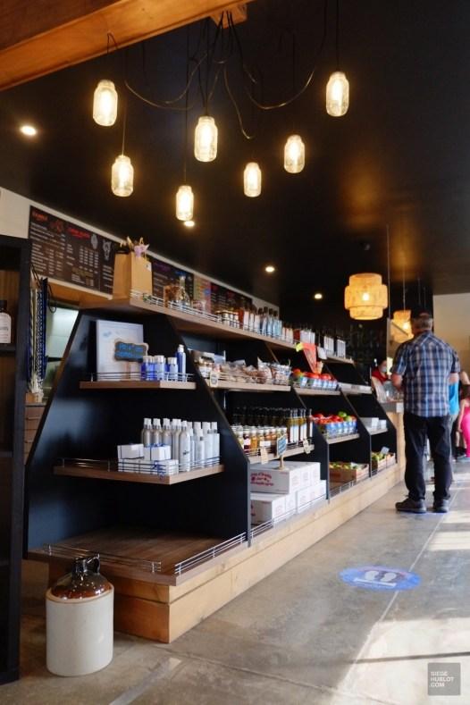 La boutique et bar laitier - Bleuetière Goulet - Balade en Beauce - Amérique du Nord, Canada, Québec, Chaudière-Appalaches