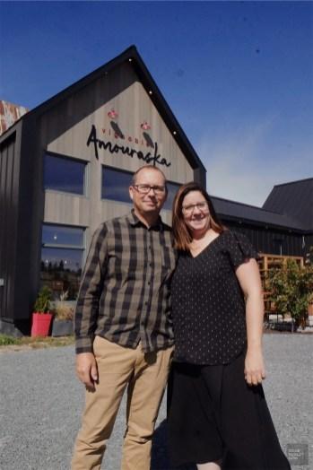 Serge et Kathy - Vignoble Amouraska - Un épicurien à Rivière-du-Loup - Amérique du Nord, Canada, Québec, Bas St-Laurent