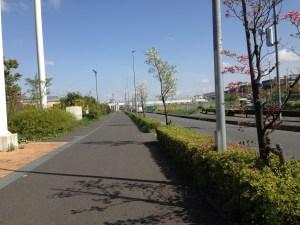 レイクタウンの歩道